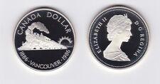 1 Dollar Silber Münze Canada Kanada 100 Jahre Eisenbahn Vancouver 1986 (118548)