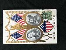 US Picture Post Card 1909 Campaign For Presidnet Taft & V-President Sherman