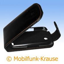 Flip Case étui pochette pour téléphone portable sac housse pour samsung gt-s3650/s3650 (Noir)