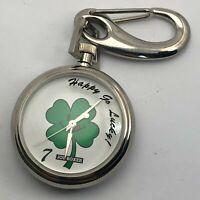 Vintage 1995 Timex Joe Boxer Smiley Face Stainless Steel Quartz Pocket Watch