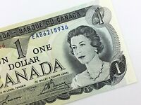 1973 Canada 1 One Dollar EAB Prefix Uncirculated Canadian Banknote K869