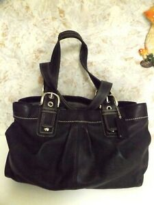 Coach Large Black Leather Purse with FOB