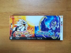 Good condition Pok?mon Sun and Moon Double pack for 3DS F/S From Japan