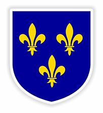 Ile de France Sticker Coat of Arms Bumper Laptop Tablet Helmet Motorcycle Board