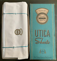 "Vintage Utica And Mohawk Cotton Mills 81x108"" S.Sheet White Set Of 6 New Box"