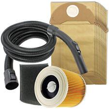 2m Hose Handle Filters + 10 Bags for KARCHER Wet & Dry A2004 A2054 A2064 MV2 MV3