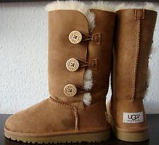 Ugg Australia Bailey button triplet Chestnut botas botas niña talla 30 nuevo