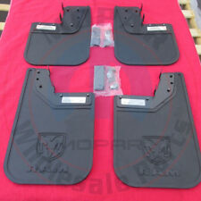 RAM PROMASTER Heavy Duty Rubber Front And Rear Mud Flaps SET NEW OEM MOPAR