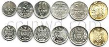 Moldova 6 coins set 1993-2011 UNC (#759)