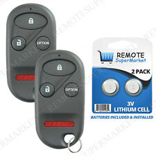 Replacement for Honda 97-01 CR-V 00-06 Insight 96-04 Odyssey Remote Key Fob Pair