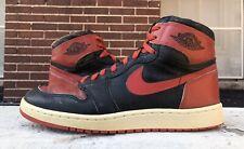 Original Nike Air Jordan 1 High 1985 Bred Banned  Red Chicago Mens 11 OG Vintage