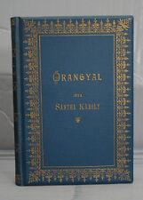 rare antique old blue PRAYER BOOK HUNGARIAN PRAYERBOOK ORANGYAL GUARDIAN ANGEL