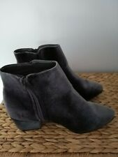 Grey Velvet Boots 5 By Primark