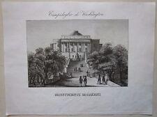 1845 CAMPIDOGLIO DI WASCHINGTON acquaforte Marmocchi United States Capitol
