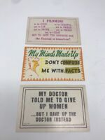 Vintage Humor Postcard Lot of 3 Unposted Circa 1950s 1960s