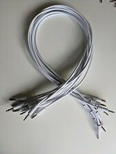10x ALM Busy Circuits 60cm Eurorack Patch Cables (White)