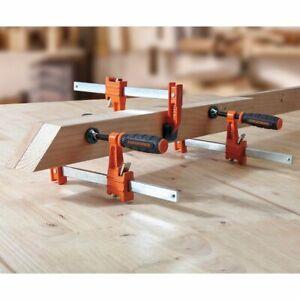 "New- 4PK Jorgensen 12"" Inch 3712 Light Duty Steel Bar Clamp / Carpentry Tools"