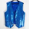 Shiny Men's Sequins Vest Slim Fit Jacket Clubwear Party Waist Coat Suit Outwear