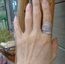 Karen Hill Tribe Sterling Silver Bohemian Leaf Wrap Ring