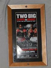 Lennox Lewis vs Michael Grant 12x7 Framed Promo Poster Francis O'Falcons Steiner