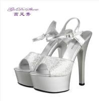Peep Toe Ankle Strap Platform Patent Sandal Stilettos High Heel Sexy Party Shoes