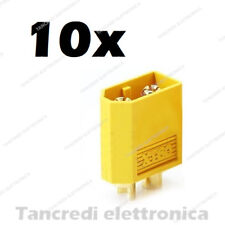 10 Connettori XT60 XT-60 Maschio Lipo Batteria Plug Drone Modellismo RC Batterie