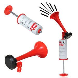 Trombetta manuale stadio ad aria air horn tromba mano con pompa eventi sportivi