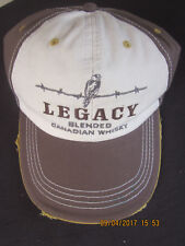 Legacy Blended Canadian Whisky Baseball Hat Cap Brown/Cream Distressed Bill