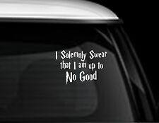 HARRY POTTER I SOLEMNLY SWEAR FUNNY  HOME CAR VAN 4X4 ,BUMPER,WINDOW STICKER JDM