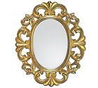 Specchio con cornice Ovale BAROCCO SPECCHIO DA PARETE ORO OGGETTO D'ANTIQUARIATO