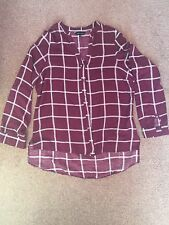 LADIES CHECK SHIRT NEW LOOK SIZE 10