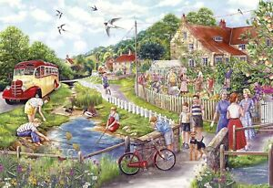 Gibsons Summer by the Stream Jigsaw Puzzle, 250XL piece (Fiona Osbaldstone)