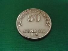 Alabama Coal Scrip 50¢ Swindle Cash Store-Jasper-AL-Walker County