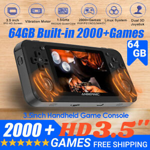RG351M Portable Video Game Console Motor Retro Handheld Pocket 2000 Games Player