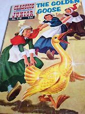 Classics Illustrated Junior-  The Golden Goose (1955 1st Print) #518