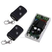 Neu AC220V 1CH 1 Empfänger + 2 Fernbedienungen RF Wireless Sendeempfänger 315MHz