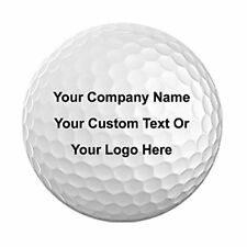 Pack of 12 Golf Balls 3D Color Printed With Your Custom Photo, Text, or Logo
