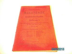 Streichorchester  Noten : Oberlausitzer Balltänze 9. Lfg.  - unvollständig