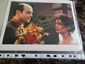 STAR TREK THE HOLO DOCTOR & LEETA, 10 X 8 AUTOGRAPHED PHOTOGRAPH