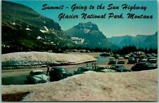 """1950s Glacier National Park Postcard """"Summit - Going-to-the-Sun Highway"""" Unused"""