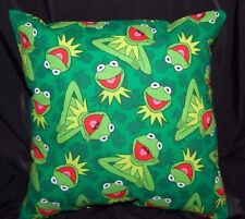 New Handmade Mini Muppets Kermit The Frog Travel/Toddler / Cuddle Pillow- 2 Left