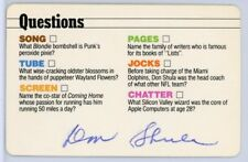 DON SHULA Autographed Signed Trivia Card - DOLPHINS Football AUTO - SIGNED TWICE