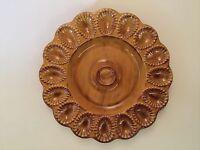 "Vintage California Pottery Egg/Relish Plate -12"" -E400"