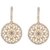 Gorgeous Drop Earrings for Women 18k Yellow Gold Plated Jewelry Gift A Pair/set