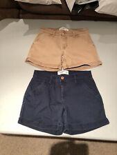 Abercrombie Kid's Girl's Uniform shorts - Navy & Tan - Midi length - size 11/12