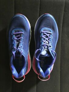 Hoka One One Bondi 5 Blue/Pink Running Walking Shoes Women's Size 9.5D Wide