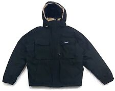 VINTAGE PATAGONIA VERY WARM BLACK WATER PROOF DOWN JACKET HOODED MENS Size L