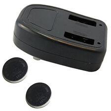 2x HQRP LIR2450 LIR 2450 (CR2450) Rechargeable Coin Batteries + Battery Charger
