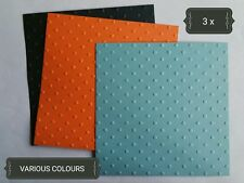 Dots Square Large Paper Embossing x3 Scrapbooking Card Topper Embellishment