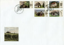 Slovenia Architecture Stamps 2020 FDC Wine Cellars Cultures Buildings 5v Set